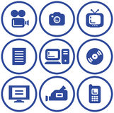 Media - Vector Icons Stock Photos