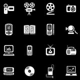 Media - Vector Icons Set. Original  icons for web, software etc. on white background Stock Image