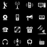 Media - Vector Icons Set Royalty Free Stock Photos