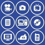 Media - Vector Icons Set Stock Photo