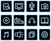 Media - Vector Icons Set royalty free stock photo