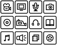 Media - Vector Icons Set Royalty Free Stock Photography