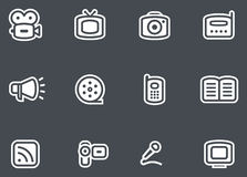 Media - Vector Icons Set. Original vector icons for web, software etc. on white background Royalty Free Stock Image