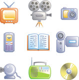 Media - Vector Icons Set Stock Photos