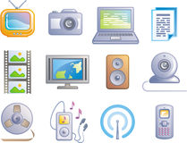 Media - Vector Icons Set. Original vector icons for web, software etc. on white background Royalty Free Stock Photo