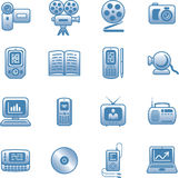 Media - Vector Icons Set. Original  icons for web, software etc. on white background Royalty Free Stock Photos