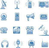 Media - Vector Icons Set Stock Photography
