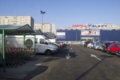 Media vermarkten und ein Parken Lizenzfreies Stockfoto