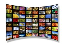 Media wall Stock Photography