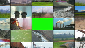 Media Wall: Industry and Pollution stock footage