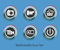 Media web icon Stock Image