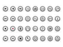 Media and web icons Royalty Free Stock Photo