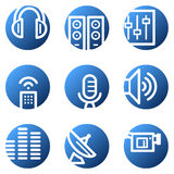 Media web icons Stock Photos