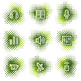 Media web icons Royalty Free Stock Image