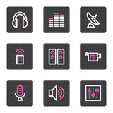 Media web icons Royalty Free Stock Images