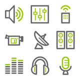 Media web icons Stock Photography