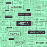 MEDIA. Word cloud illustration. Tag cloud concept collage Royalty Free Stock Images