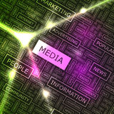MEDIA. Word cloud illustration. Tag cloud concept collage Royalty Free Stock Photography