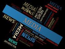 MEDIA - word cloud - JOURNALISM - JOURNALISM - word cloud - FREEDOM OF PRESS - FREEDOM OF PRESS - word cloud - FREEDOM OF PRESS - Stock Image