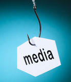 Media word on hook Royalty Free Stock Photography