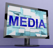 Media Word On Monitor Showing Internet Stock Photos