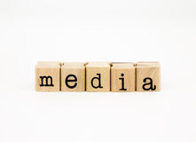 Media wording, communication and business concept Stock Image