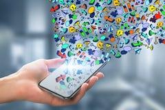 Media y concepto sociales de la comunicación imágenes de archivo libres de regalías