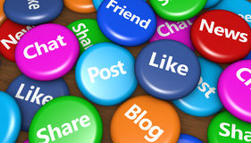 Media y concepto sociales de la red Fotografía de archivo libre de regalías