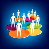 Media y establecimiento de una red sociales Imagen de archivo libre de regalías