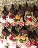 Media y juguetes de la decoración de la Navidad Imágenes de archivo libres de regalías