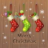 Media y presentes de la Navidad Imagen de archivo
