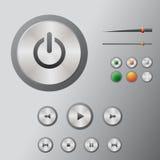 Mediacentre delle icone Fotografia Stock