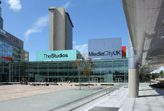 Mediacity BBC North. New British Broadcasting Corporation (BBC) Studios. Part of the MediaCityUK development in Salford Quays, Greater Manchester Royalty Free Stock Image