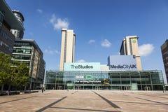 MediaCityUK, la maison neuve pour la BBC images stock