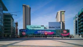 MediaCityUKtelevisie en radiouitzendingscentrum in Salford, het UK royalty-vrije stock foto's