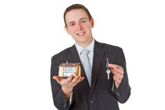 Mediador imobiliário amigável Fotografia de Stock Royalty Free