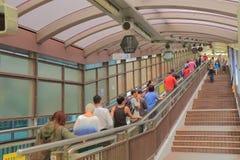 Mediados de escalera móvil llana central Hong Kong imágenes de archivo libres de regalías