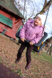 Mediados de oscilación de la niña Foto de archivo