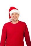 Mediados de Papá Noel adulto sonriente Fotos de archivo libres de regalías