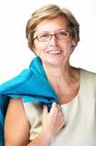 Mediados de sonrisa de la mujer adulta foto de archivo libre de regalías