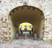 Mediaeval arch in old Riga city, Latvia Stock Photography