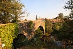 Mediaeval bridge in Furelos. View of the Mediaeval bridge in Furelos, Spain Stock Photography