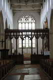 Mediaeval Church Interior. Church interior showing the nave and altar Stock Image