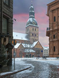 Mediaeval dome cathedral in old Riga, Latvia Royalty Free Stock Images