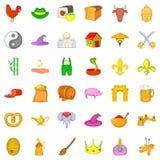 Mediaeval icons set, cartoon style. Mediaeval icons set. Cartoon set of 36 mediaeval vector icons for web isolated on white background Royalty Free Stock Images