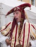 mediaeval italiensk gyckelmakare för festival Royaltyfri Fotografi
