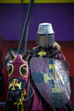 Mediaeval knight. With sword and helmet Stock Photography