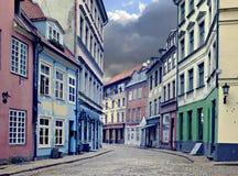 Mediaeval street in Riga, Latvia Royalty Free Stock Photos