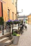 Mediaeval street   of Uppsala Stock Images
