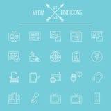 Mediaikone Set Lizenzfreie Stockfotos